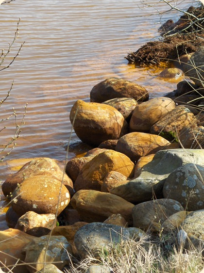 Okkerbrune sten