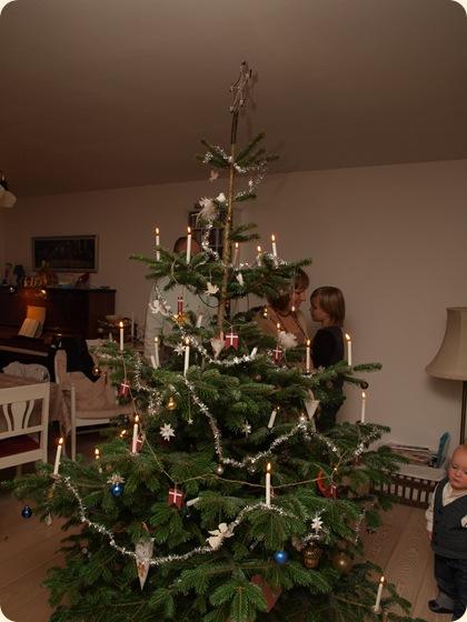 Juletræet er tændt