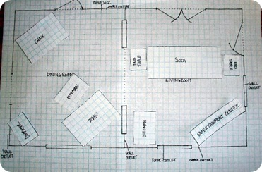 graph paper floor plan 1