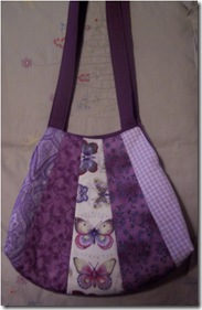 purple butterfly bag