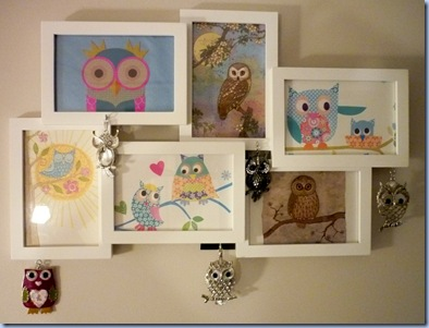 framed owls