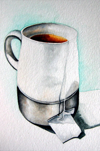 watercolour still life painting