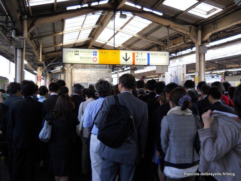 Rush du matin à Shimbashi