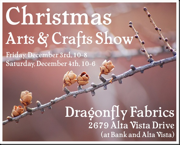Dragonfly Craft Sale Dec 3-4