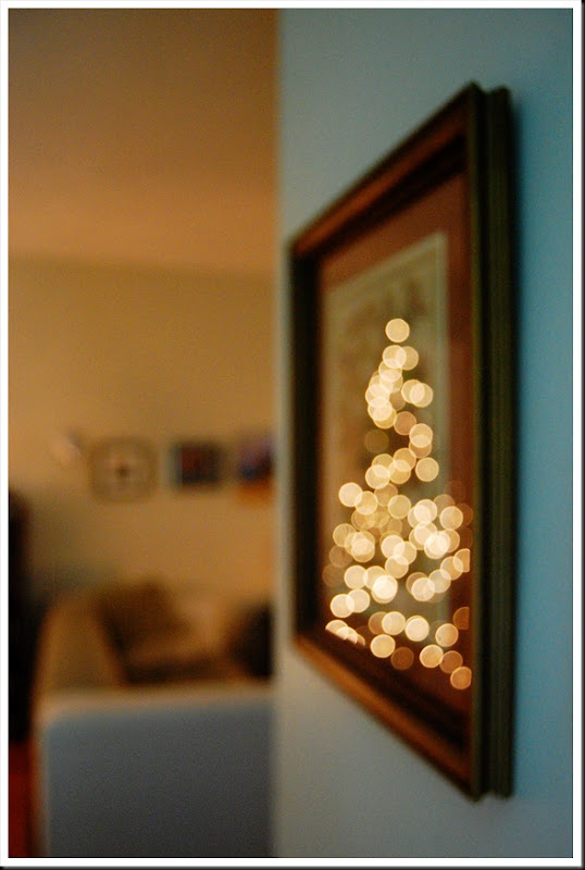xmas lights frame