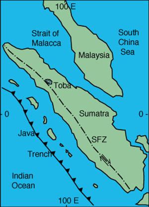 خريطة سومطرة