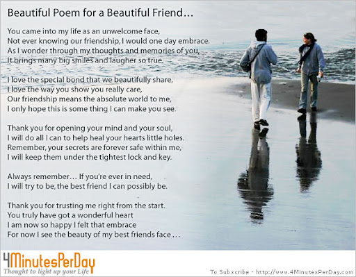 best friend poems. Loving Friend Poem. Jan. 25.
