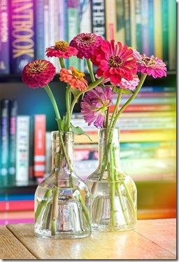 flores vasos