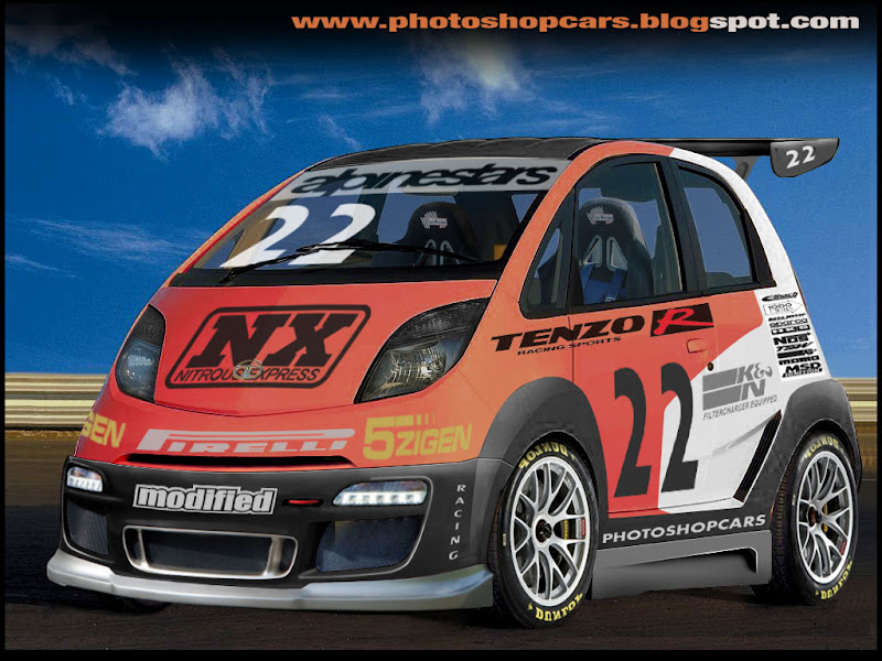Tata Nano tuning rebaixado e virtual tuning