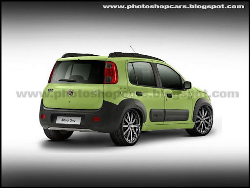 Novo Fiat Uno 2011 rebaixado, DUB e tuning virtual