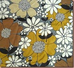 60's daisy fabric