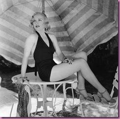 carole lombard 1930's swimsuit