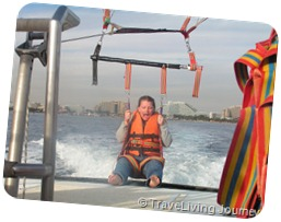 Patti Parasailing Eilat_Dec 2004