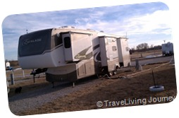 Parked at Oasis Campground