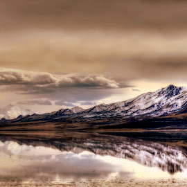 Wonderland by Sylvia Smialkowska - Landscapes Mountains & Hills ( great salt lake, mountains, utah, antelope island, landscape )