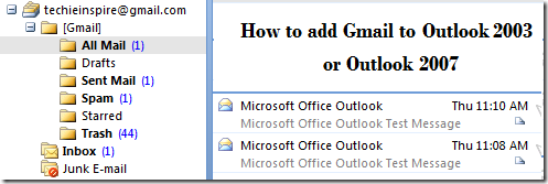 Step by Step: How to add Gmail to Outlook 2003 or Outlook 2007