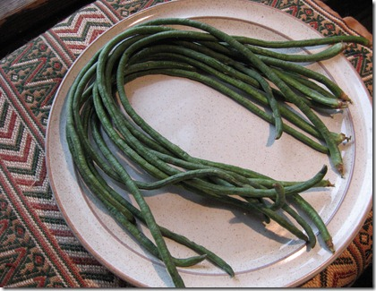 raw long beans