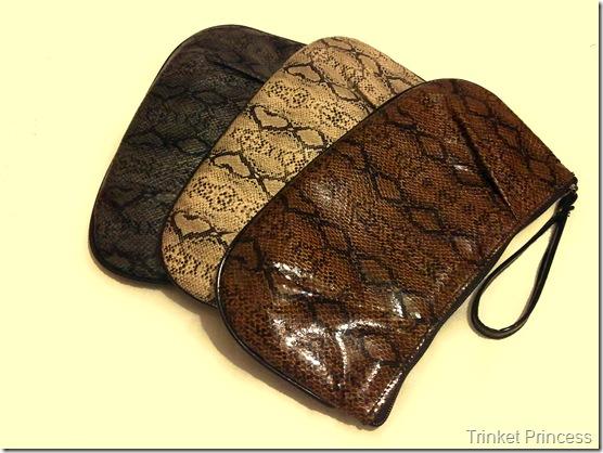 snakeskin clutch bags