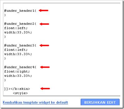 kode HTML 4 kolom