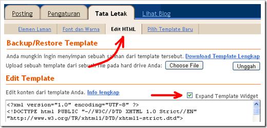Menampilkan dan Menyembunyikan Sidebar atau Widget di Halaman Blogger