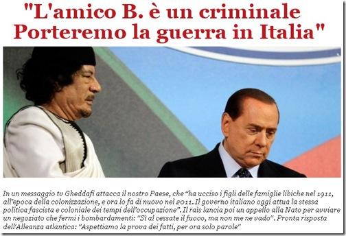 gheddafi guerra italia