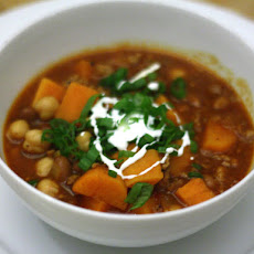 Quick Chili with Sweet Potato and Pork