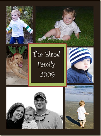 Elrod Family Christmas Card Front