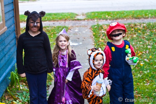 Werewolf, princess, tiger, Mario