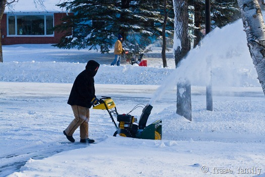 Dual snowblowers