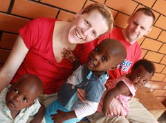 Suzanne and Shawn with the Nsambya babies