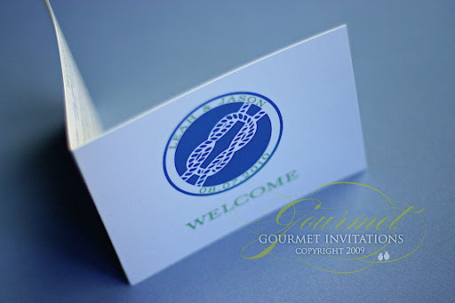 I also designed the welcome basket cards that outlined the itinerary for the