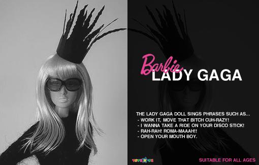 Lady Gaga Barbie: Bad romance style [Lady Gaga Barbie image used courtesy of Veik 11@ flickr]