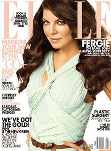 Fergie graces Elle magazine [image courtesy of justjared.com]