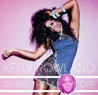 Kelly Rowland 'Shake them haters off single' cover | created by J ;P
