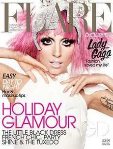 Lady Gaga graces the cover of Flare magazine