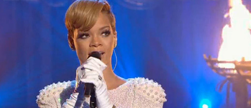 Rihanna's 'Russian roulette' performance on 'Cheryl Cole's night in'