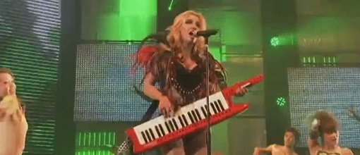 Ke$ha performs 'Tik tok' and 'Your love is my dug' at the '10 VMA's Japan | Live performance