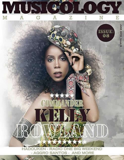 Kelly Rowland on the cover of Musicology magazine