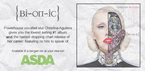Christina Aguilera's Bionic, at your nearest bargain bin | 'shopped by J ;P