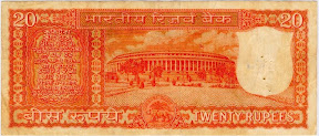 Image of 20 Rupees Notes Indian Currency