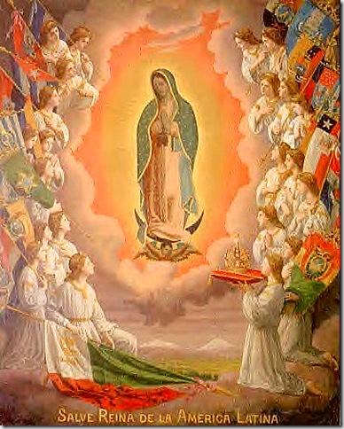 Mamá María de Guadalupe con los ángeles