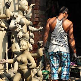 by Subrata Chatterjee - City,  Street & Park  Street Scenes
