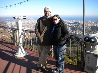 con Marta en el Tibidabo