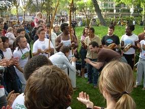capoeira, Día de la Tierra, Barcelona