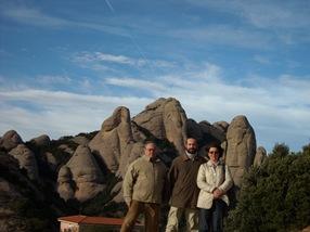 Mis  progenitores y yo en Montserrat