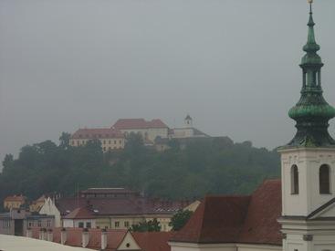 Brno, al fondo el castillo
