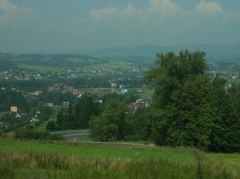 paisaje desde el bus Cracovia-Zakopane