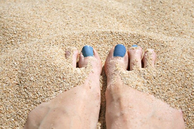 Toes in Sand