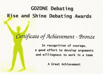 Debating Award 2011