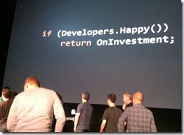 If (Developpers.Happy()) return OnInvestment;